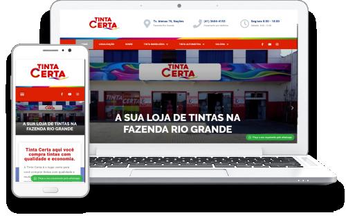 Agência Domínio Digital - Case Tinta Certa
